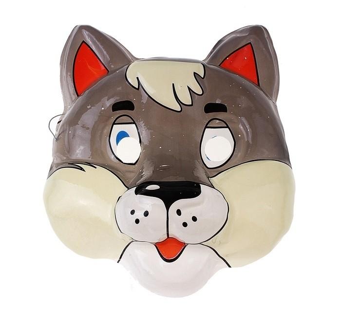 Пластиковая маска Волк - Карнавальные маски