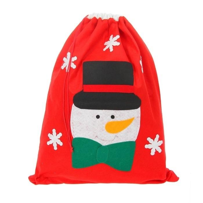Новогодний мешок со снеговиком - Аксессуары на Новый год 2017