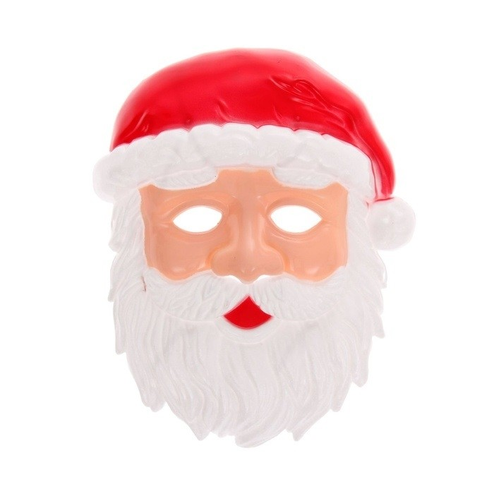 Новогодняя маска Дед Мороз (UNI) плащ и маска штурмовик uni