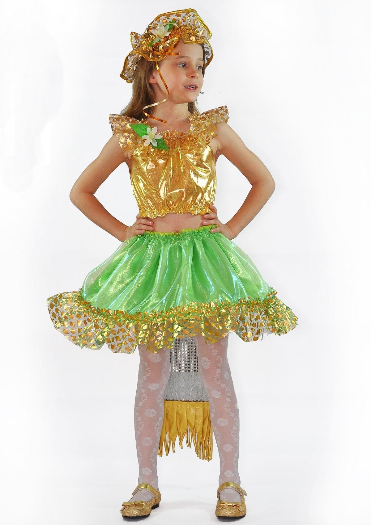 Фото #1: Детский костюм золотистой русалочки (30)