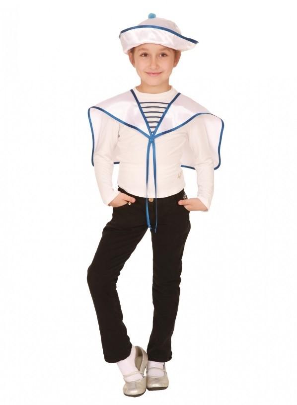 Комплект морячка (30) платье barkito солнечный берег 2 белое в синюю полоску и с синей отделкой