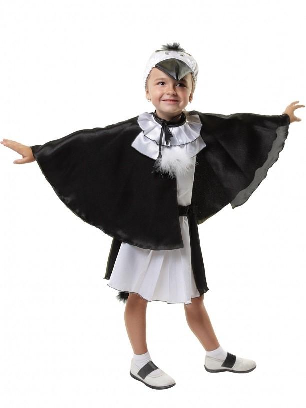 Костюм сороки детский (28-34) детский костюм дарт мола 28 30