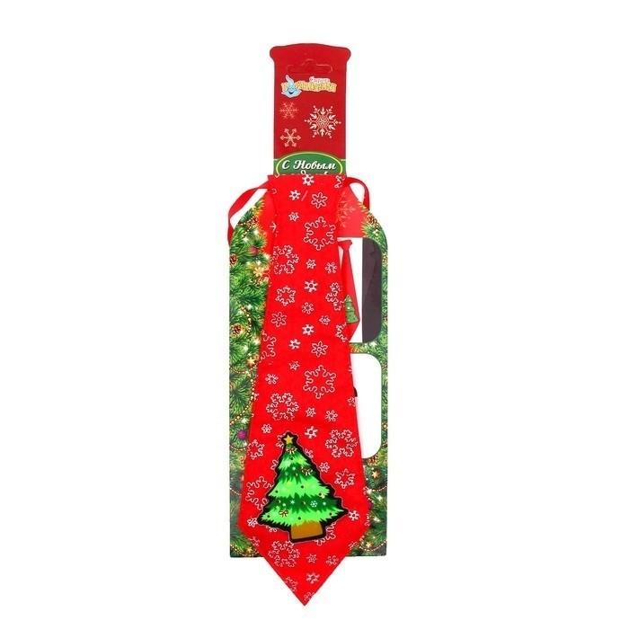 Красный галстук с елочкой - Аксессуары на Новый год 2017