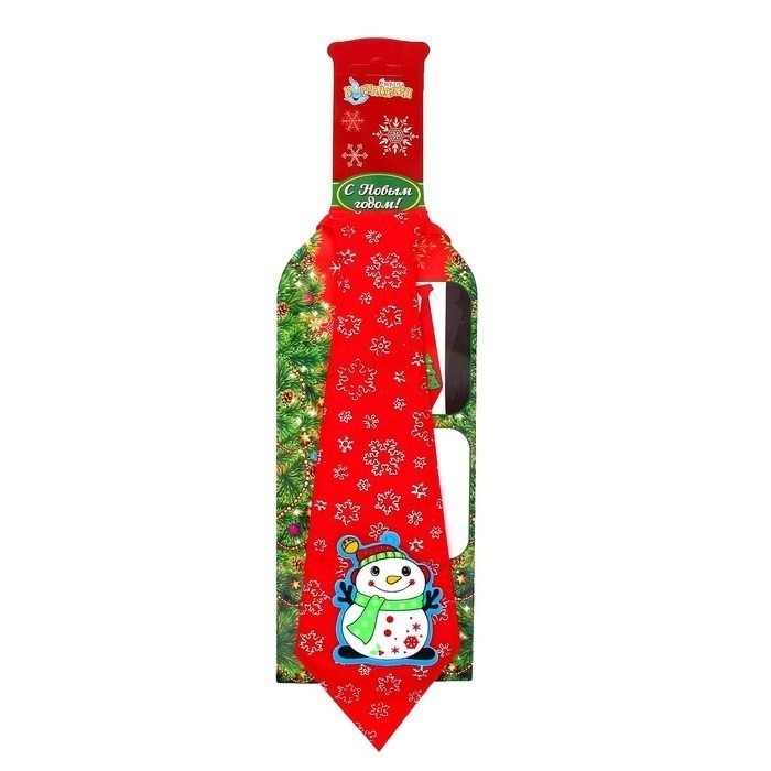 Новогодний галстук Снеговик - Аксессуары на Новый год 2017