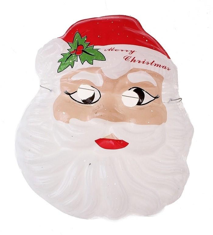 Пластиковая маска Дед Мороз (UNI) плащ и маска черепашка ниндзя uni