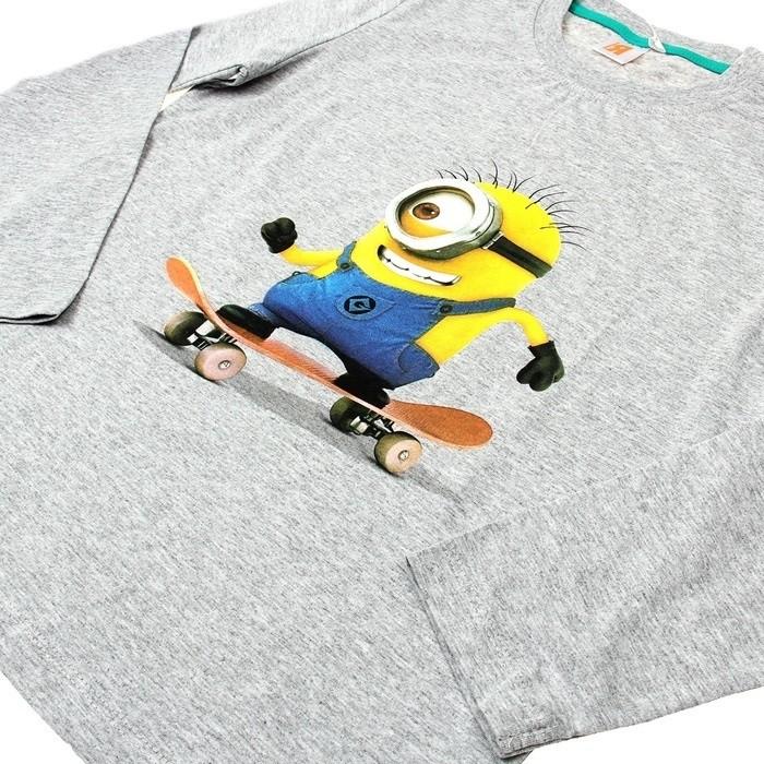 Серая футболка для мальчиков Миньоны (30) -  Герои видеоигр