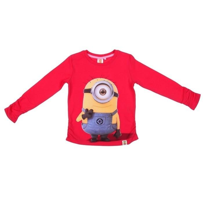 Красная футболка для девочек Миньоны (30) -  Герои видеоигр