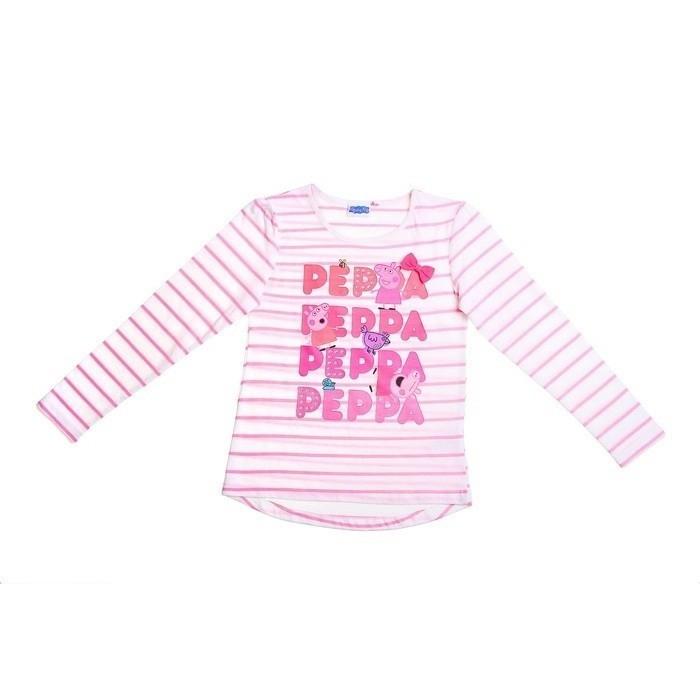 Полосатая футболка для девочек Свинка Пеппа (30) - Сказочные герои, р.30