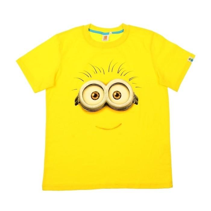 Желтая футболка для мальчиков Миньон (30) - Сказочные герои, р.30
