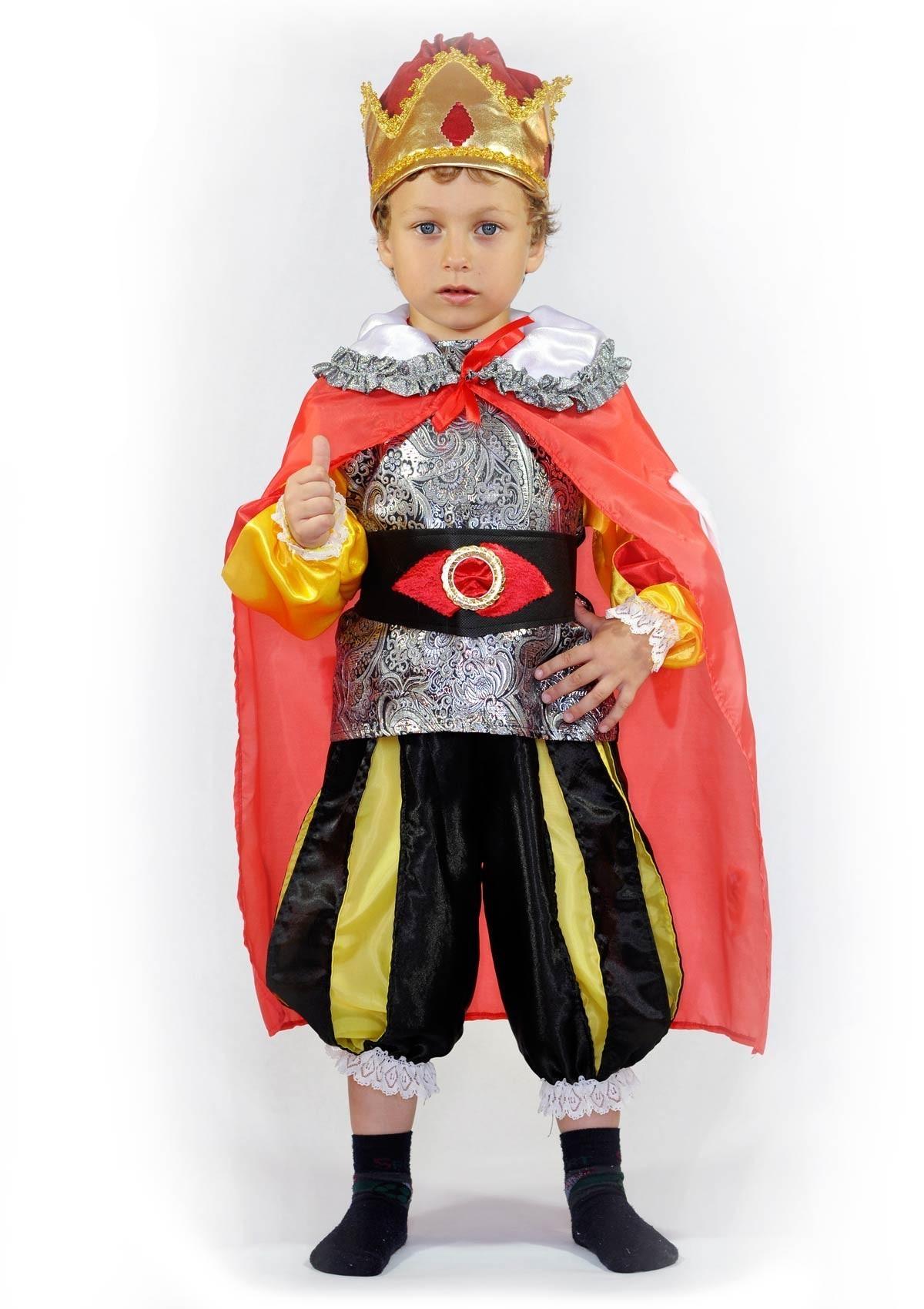 Детский костюм важного короля (30) детский костюм озорного клоуна 34