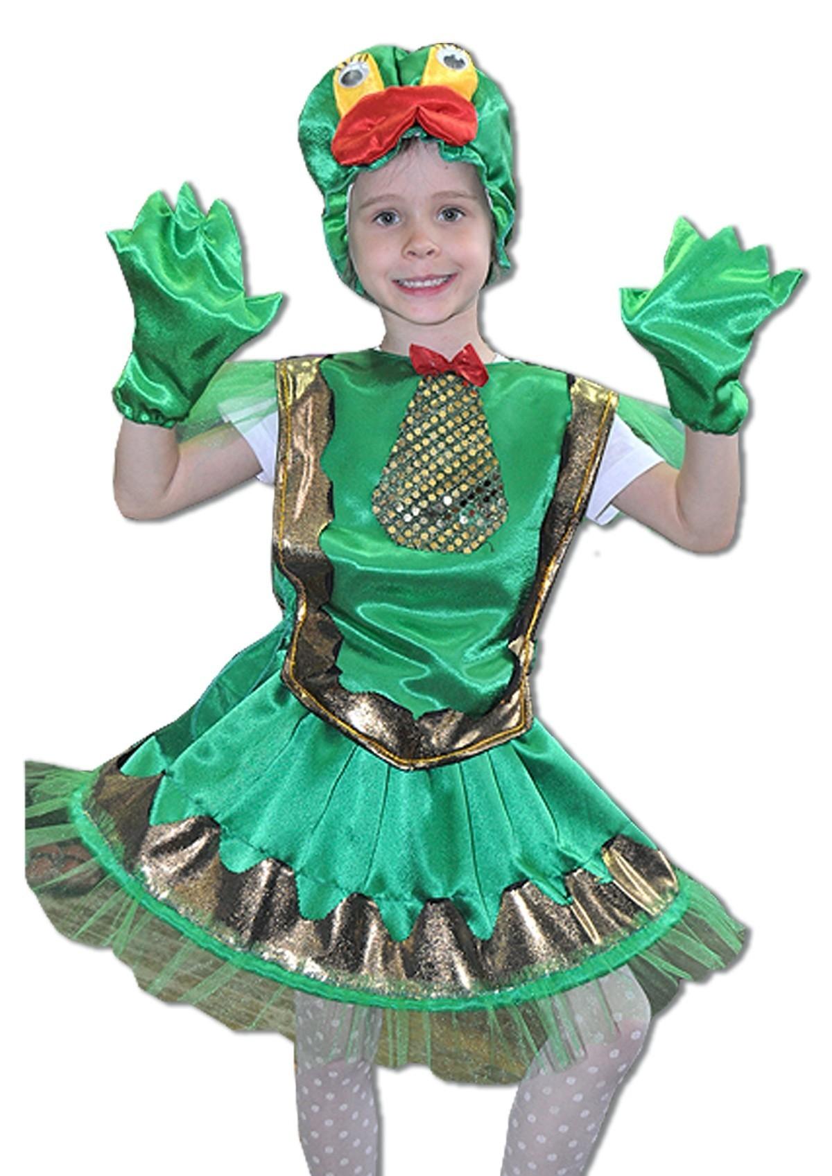 Детский костюм яркой лягушки (28) детский костюм озорного клоуна 34
