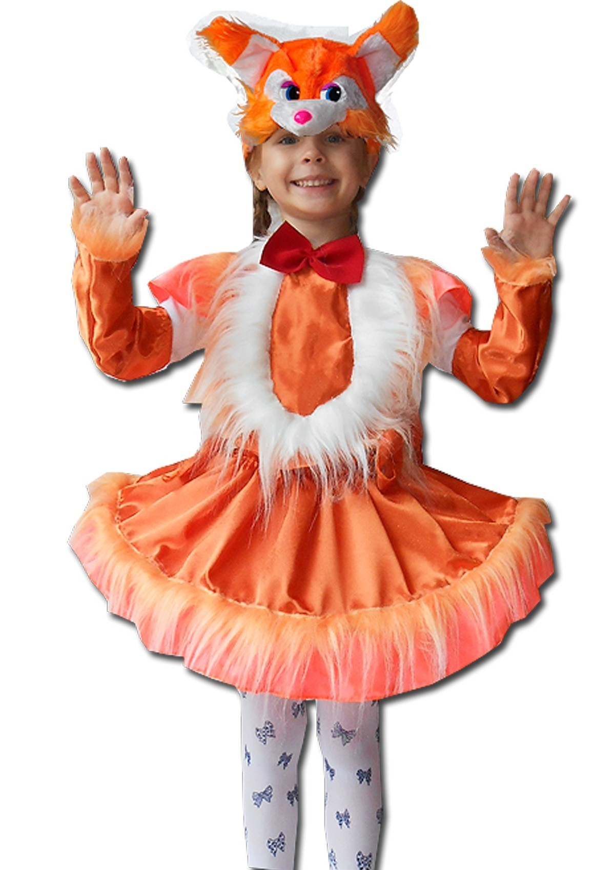 Детский костюм рыжей белочки (30) меховая шапочка маска белочки uni