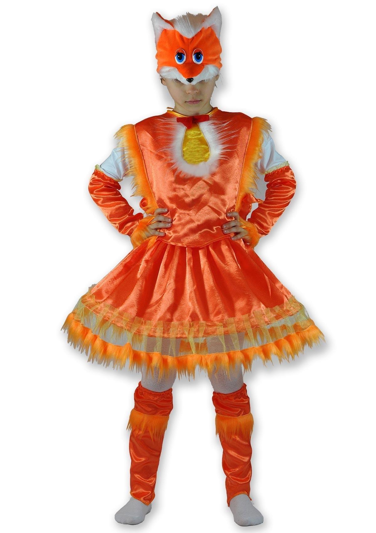 Детский костюм хитрой лисички (26) детский костюм озорного клоуна 34