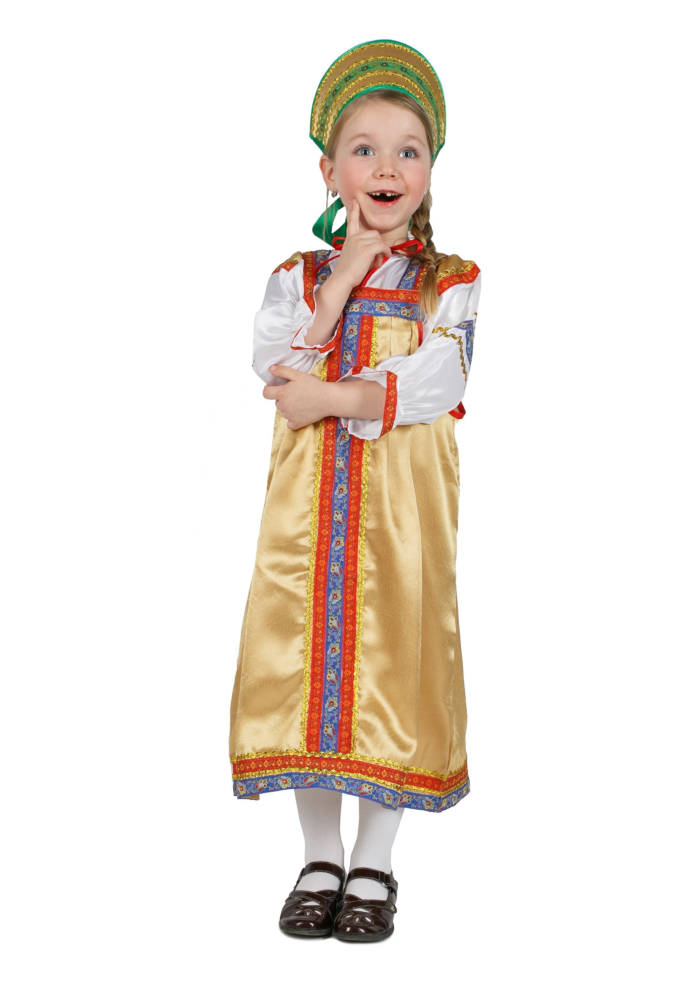 Детский костюм Василисы золотой (38)