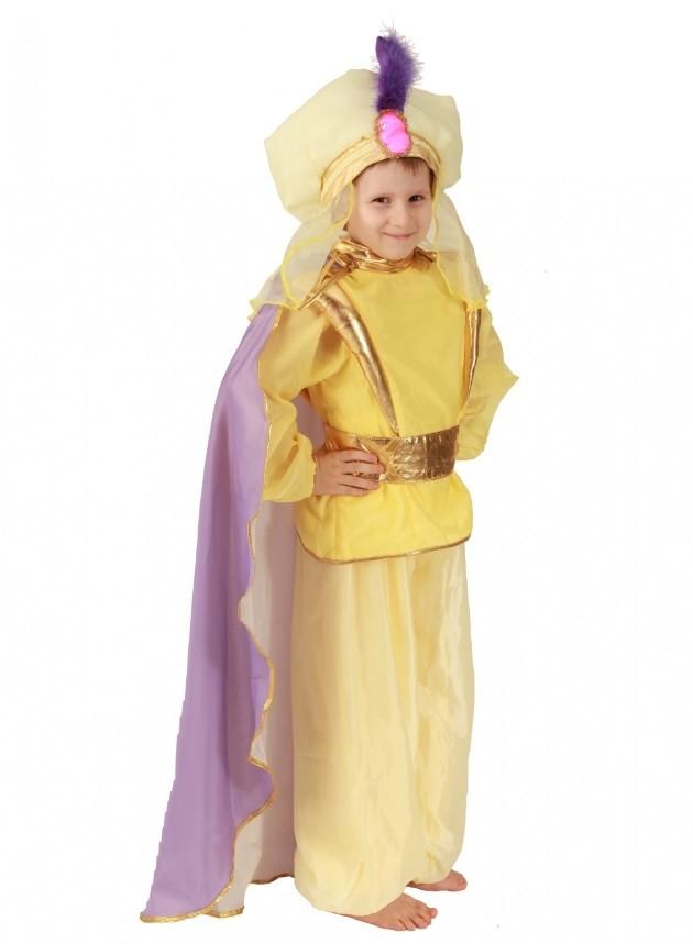 Желтый костюм Восточного принца (32) костюм принца в сиреневом