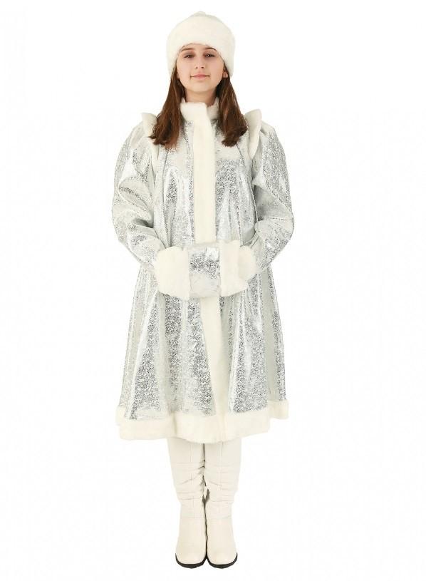 Серебряный костюм Снегурочки (42-44) костюм снегурочки конфетки 40 44