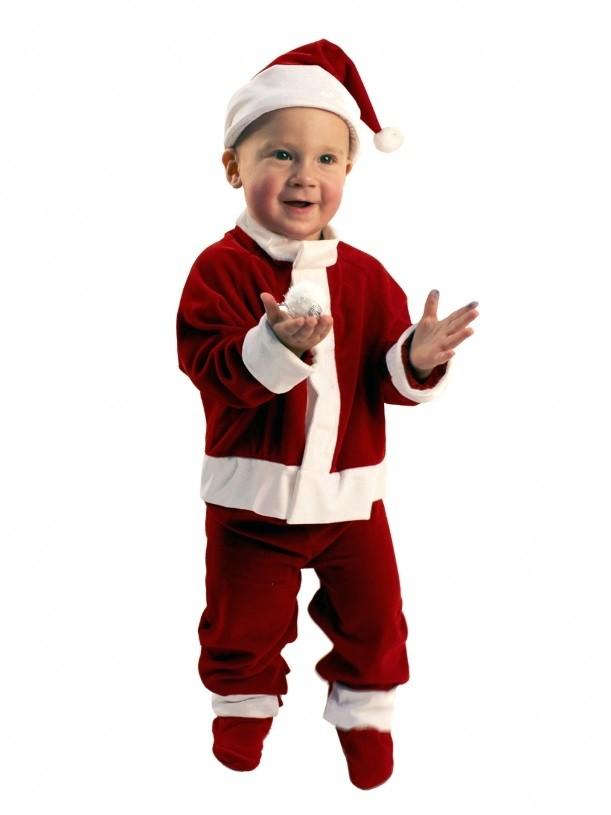 Костюм Санты малыша (44) где костюм снегиря новогодний в новосибирске