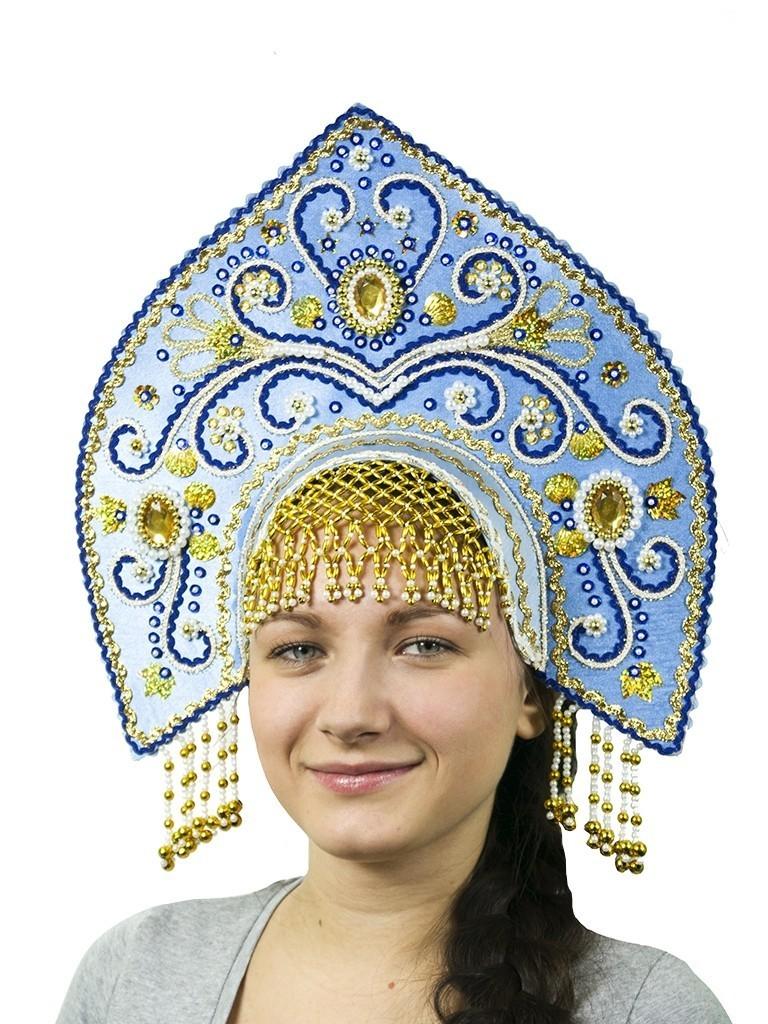 Голубой кокошник Купола (UNI) -  Национальные костюмы