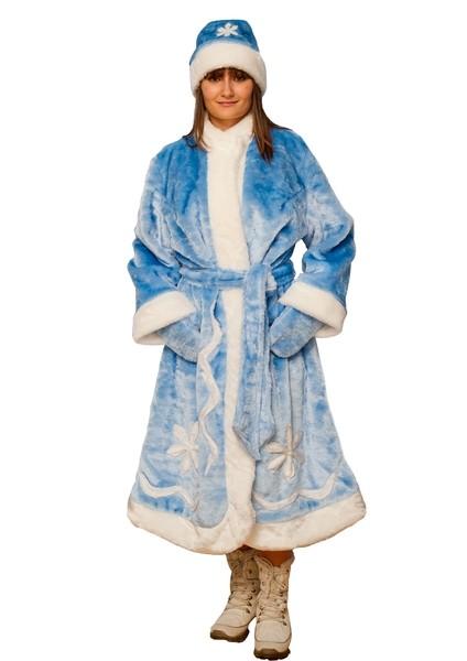 Плюшевый костюм Снегурочки (44-50) костюм серебристой снегурочки 46 50