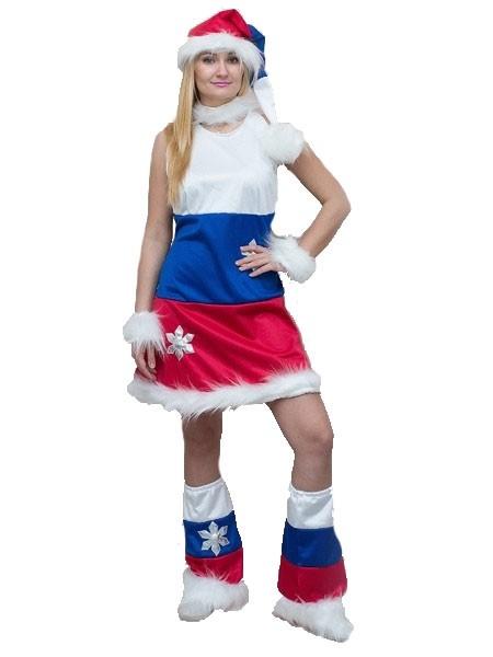 Костюм Снегурочки Россия (44-50) костюм снегурочки конфетки 40 44