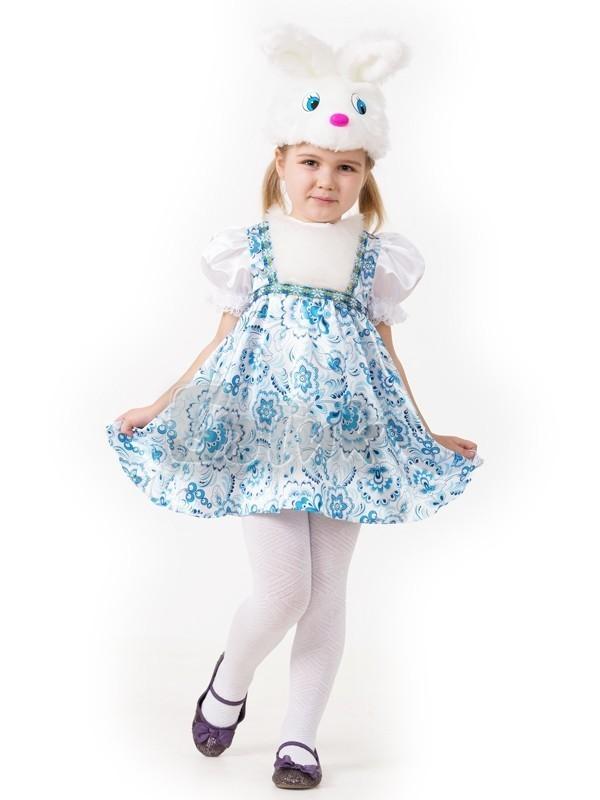 Детский костюм зайки гжель (32) детский костюм озорного клоуна 34