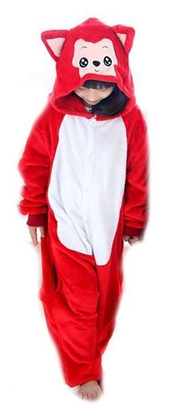 Детская пижама Кигуруми Красный котик (28)
