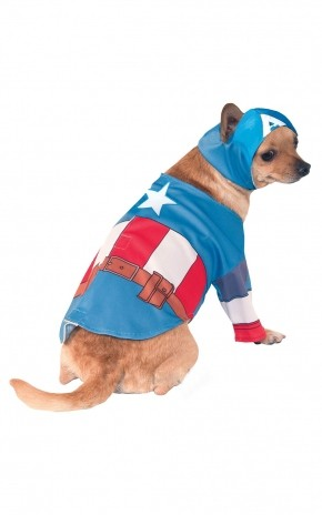 Костюм для собаки Капитан Америка (L) - Супергерои и комиксы
