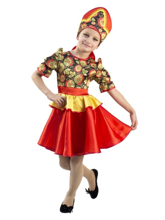 Детский костюм хохломской сувенир (32-34) -  Национальные костюмы