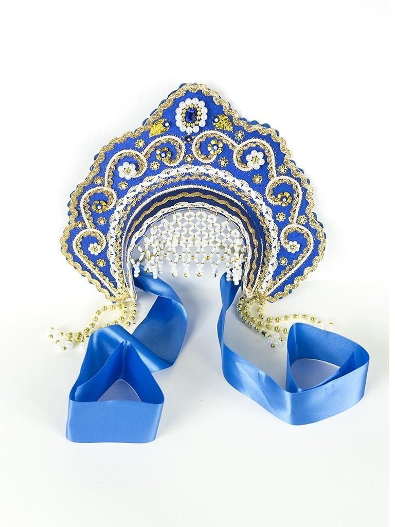 Синий кокошник Фантазия детский (UNI) -  Национальные костюмы