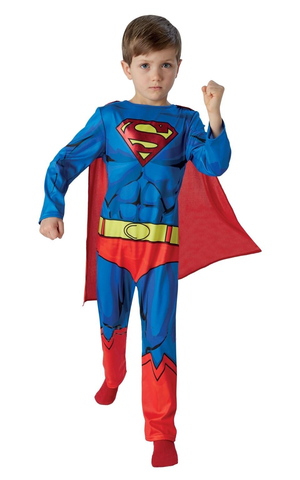 Купить со скидкой Классический костюм Супермена детский (26-28)