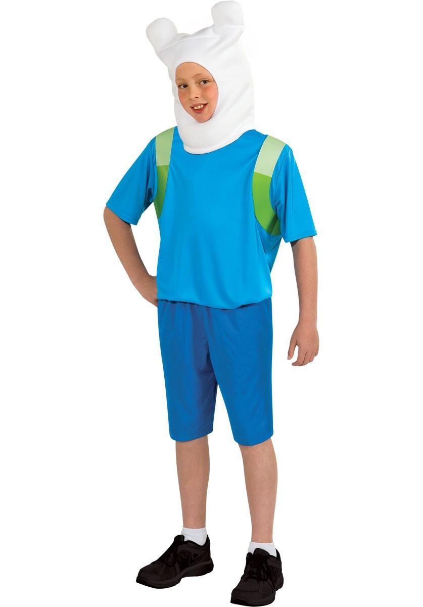 Детский костюм Финна из Время Приключений (30) детский костюм озорного клоуна 34
