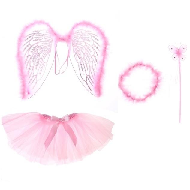Розовый набор ангелочка (26) - Крылья ангелов и демонов, р.26