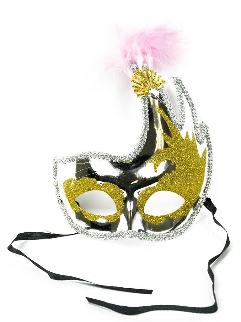 Асимметричная маска серебряная (UNI) плащ и маска черепашка ниндзя uni