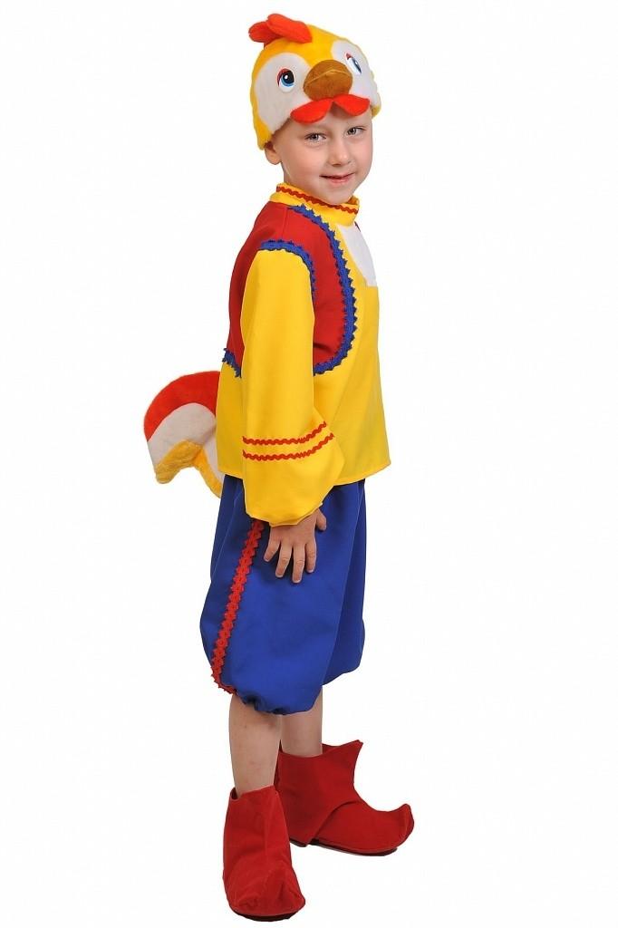 Маскарадный костюм Петушка (28-32) разноцветный костюм шута 28 32