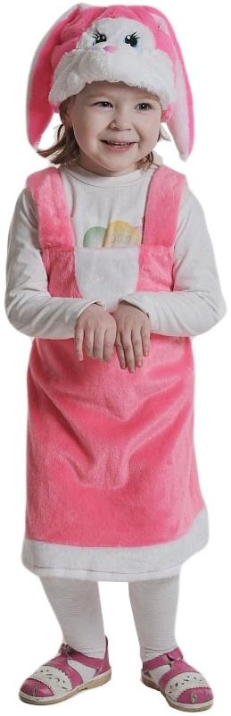 цена Розовый плюшевый костюм Зайки (26-30) онлайн в 2017 году