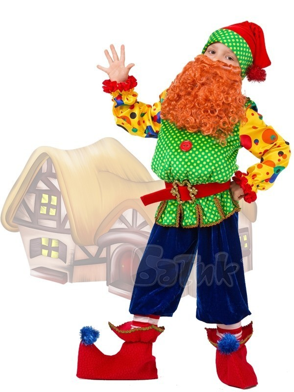 Яркий костюм Гнома Тома (34) костюм гнома для мальчика купить