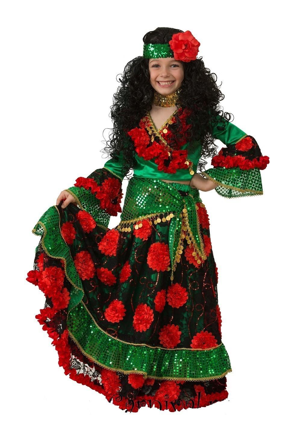 Детский зеленый костюм цыганки (30) от Vkostume