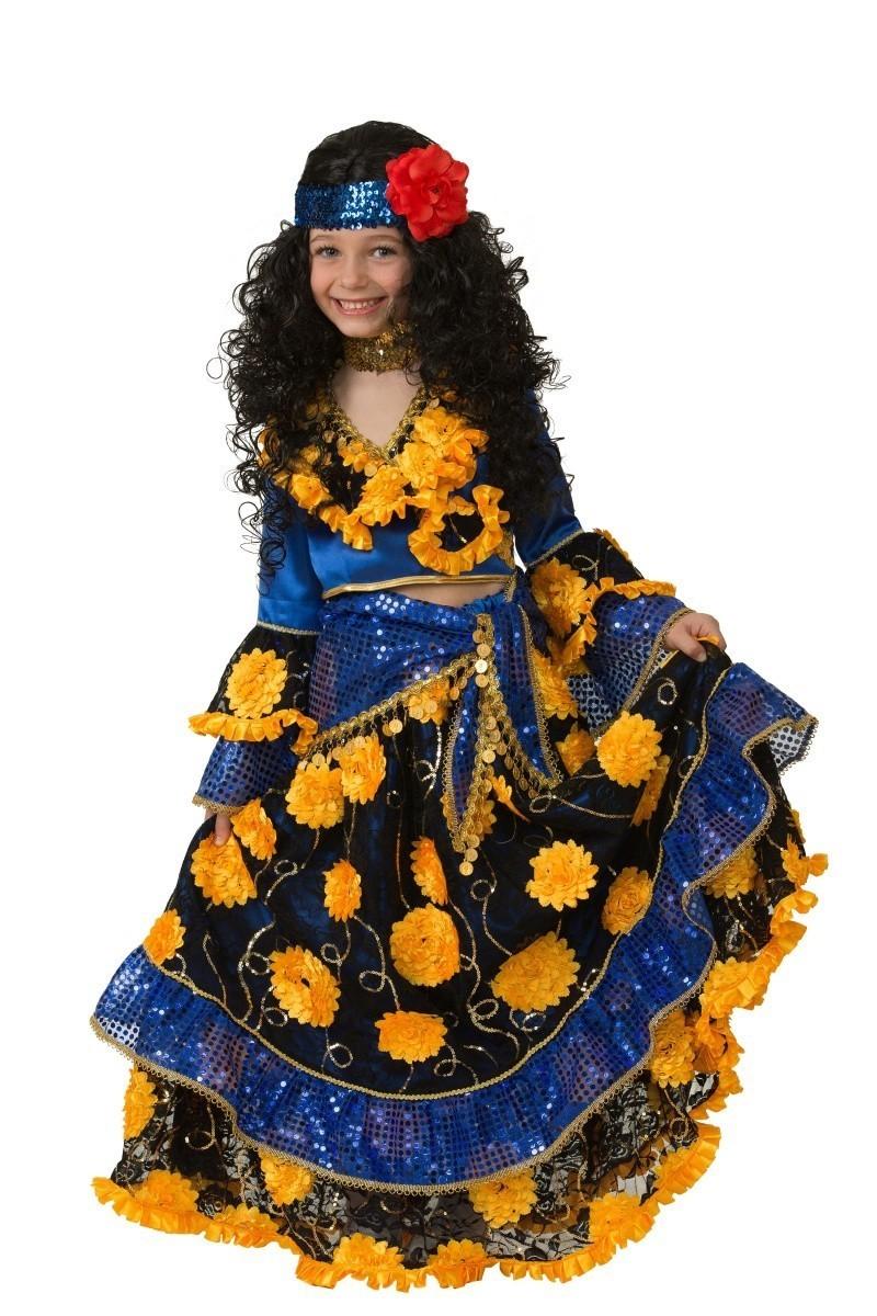 Детский синий костюм цыганки (36) костюм цыганки 48