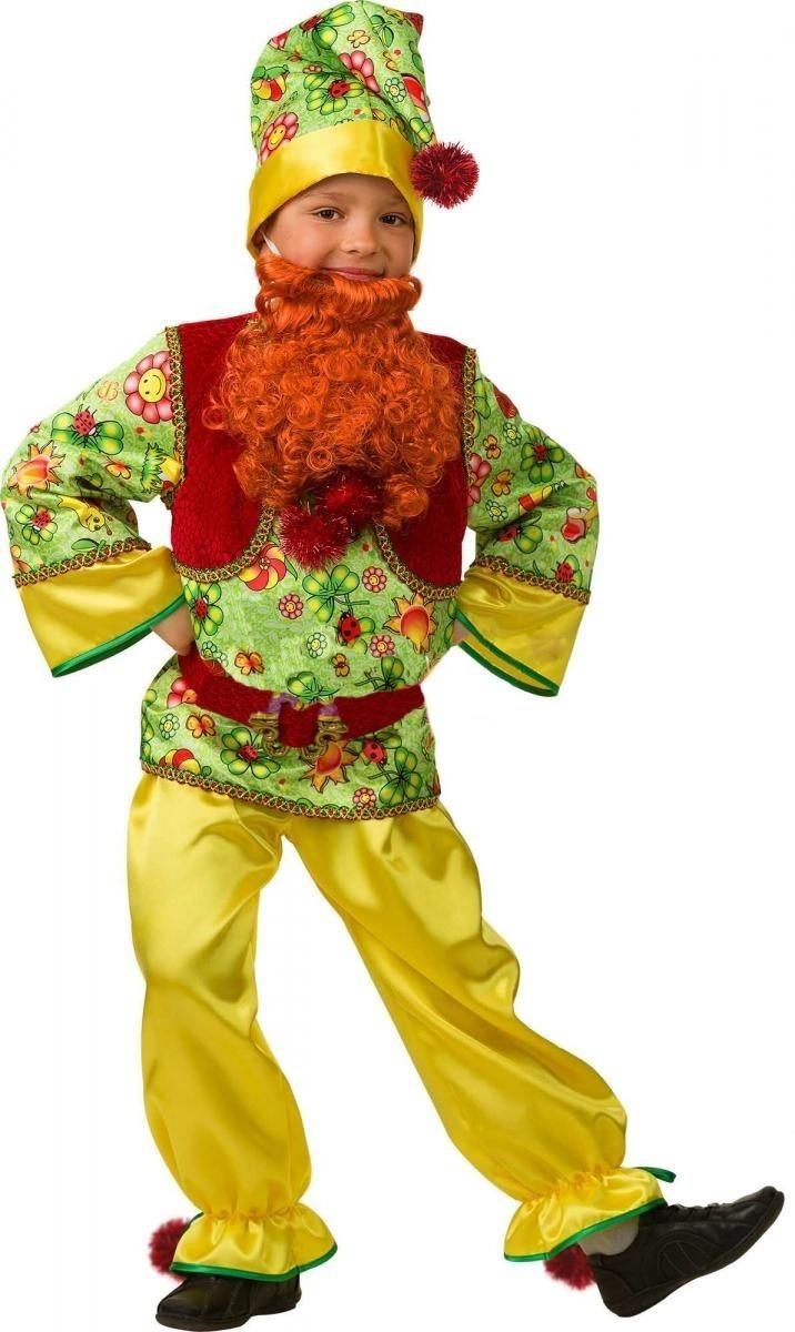 Детский костюм сказочного гномика (36) детский костюм сказочного клоуна 30