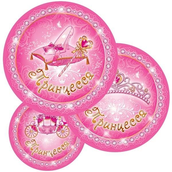 Бумажные тарелки Моя принцесса (UNI) бумажные тарелки праздничный торт uni