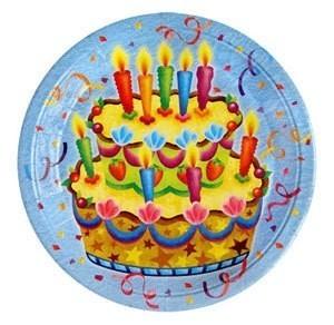 Бумажные тарелки Праздничный торт - Все для праздника