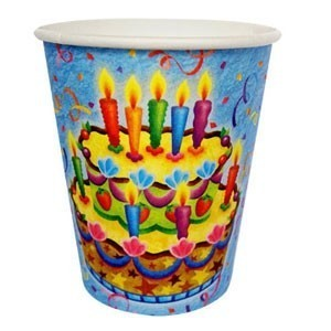 Бумажные стаканы Праздничный торт (UNI) бумажные тарелки праздничный торт uni