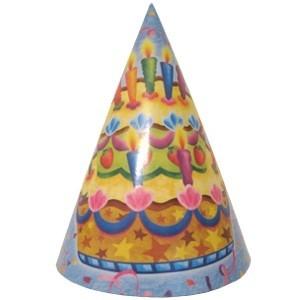 Праздничные колпаки Торт (UNI) бумажные тарелки праздничный торт uni