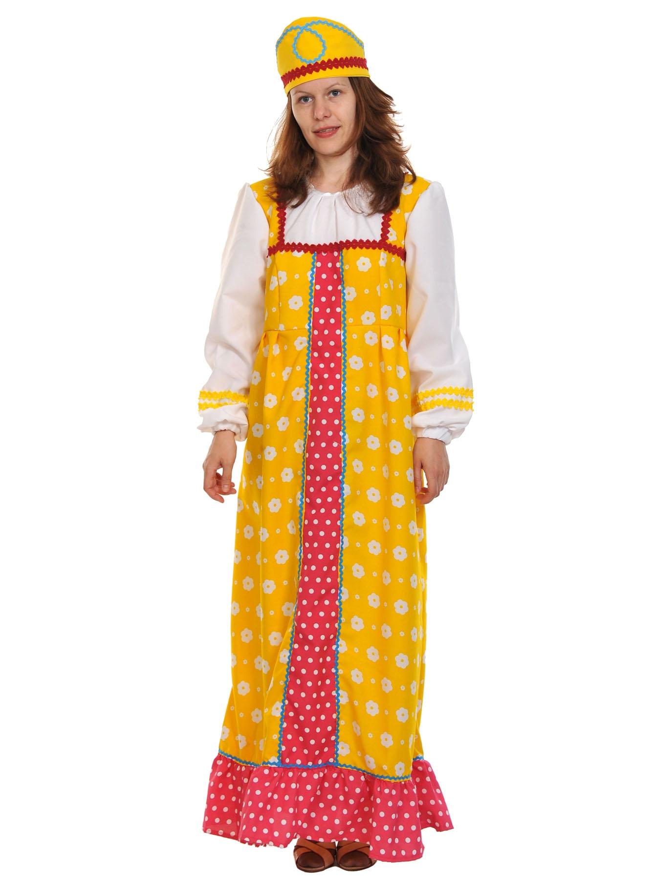 Желтый костюм Аленушки для взрослых (M)