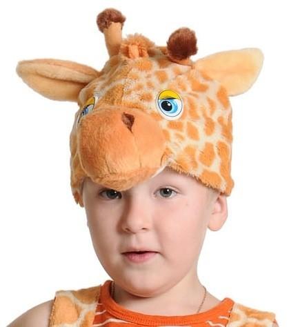 Плюшевая маска Жирафика (UNI) плюшевая маска песика uni