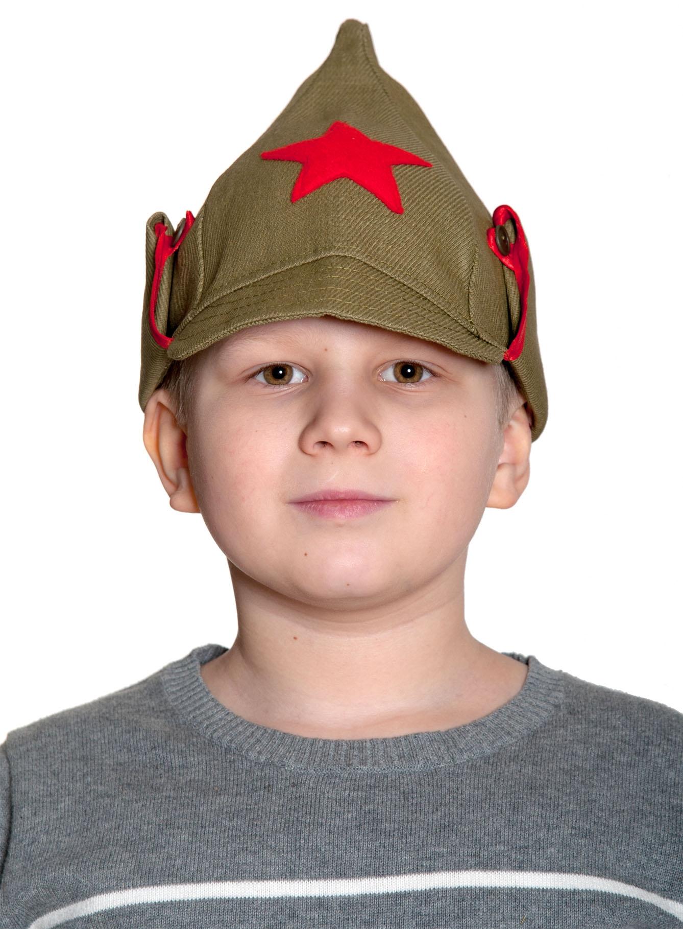Детская военная шапка Буденовка (54) купить шапка военная зимняя киров