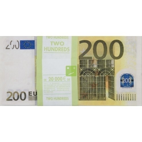 Шуточная пачка денег 200 евро (UNI) -  Юмор