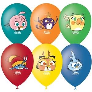 Воздушные шары Angry Birds Stella 5 шт сандалии angry birds transformers 5249 размер 27 цвет синие