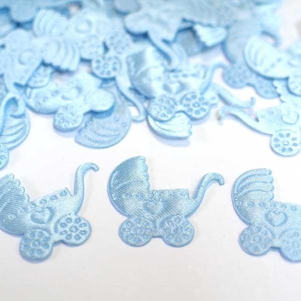 Голубое конфети Коляска - Все для праздника