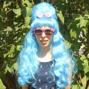 Голубой парик с прической Бабетта парик для волос